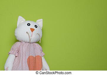 A toy cat