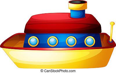 A toy ship