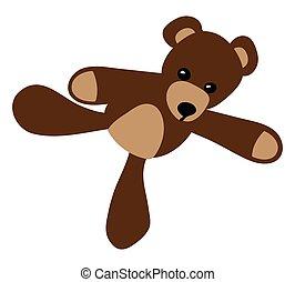 a toy teddy bear isolated