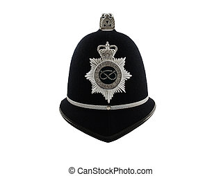 A Traditional British Police Helmet - A British Police...