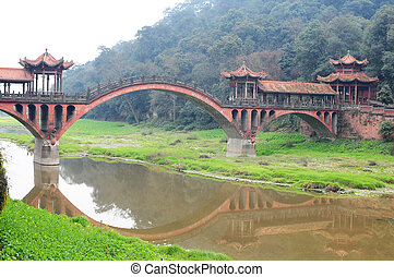 Chinese ancient bridge - A traditional Chinese ancient ...