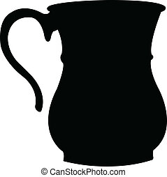 a traditional pot, silhouette