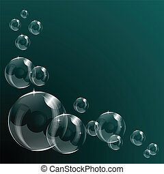 A transparent soap bubble background design with room for...