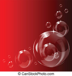 A transparent soap bubble background