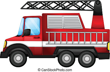 A transport truck - Illustration of a transport truck on a...