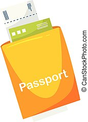 A Travelling Passport on White Background