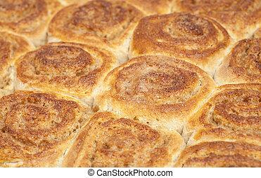 freshly made cinnamon buns