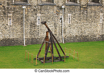Layout of trebuchet, which is located in the Tower of London