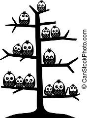 a tree full of owls