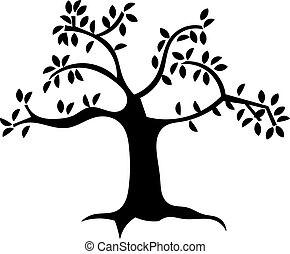 A tree - silhouette image of a tree