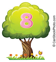 A tree with a number eight figure