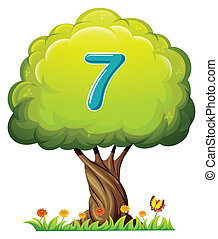 A tree with a number seven figure