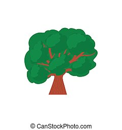 A tree with a spreading green crown icon