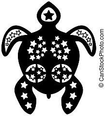 a tribal tattoo turtle