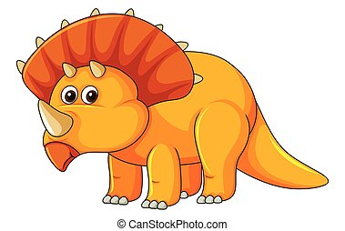 A triceratops on white background