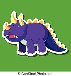 A triceratops sticker character