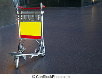 a trolley on the airport