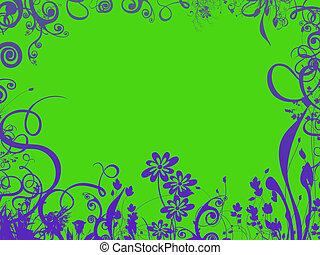 tropical foliage border