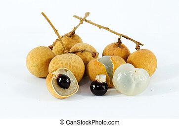 longan - a tropical fruit called longan or dragon eye fruit