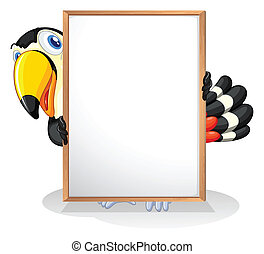 A tucan - Illustration of a tucan on a white background
