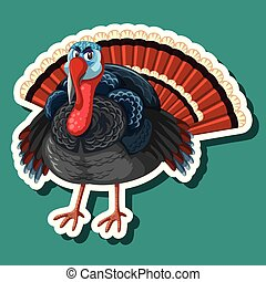 A turkey sticker character