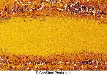 A turmeric powder background
