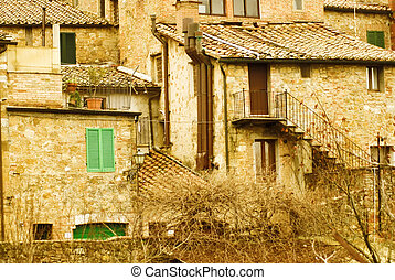 A tuscany village near of siena.