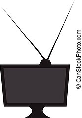 A tv vector or color illustration