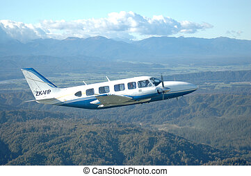 Piper Chieftain - A twin engined Piper Chieftain flying over...
