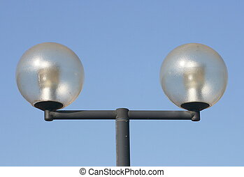 two-beam street lamps