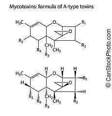 a-type, általános, képlet, mycotoxin