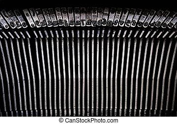 A typewriter type face