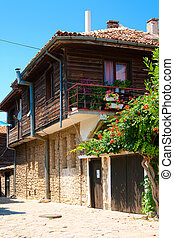 A typical house in the old town. Nessebar. Bulgaria.