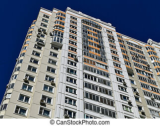 A Typical multistory houses in Khimki, Russia - Typical ...