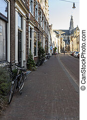 A typical street in the Dutch town of Haarlem