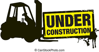 under construction - a under construction stamp