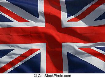 A Union Jack Flag background