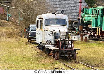 A unique railway car