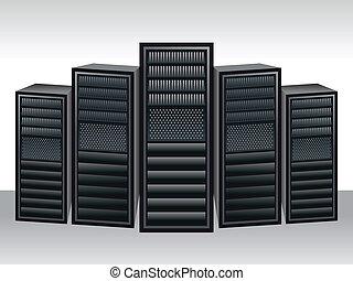 a unique server station vector illustration