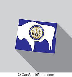 United States Illustration of Wyoming