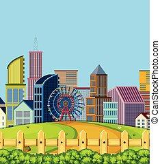 A urban city scene