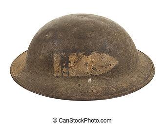 A U.S. Army Doughboy Helmet - A U.S. World War One Army...