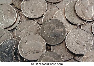 US quarters background