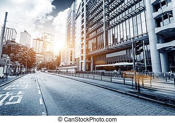 a, utcák, közül, hong kong