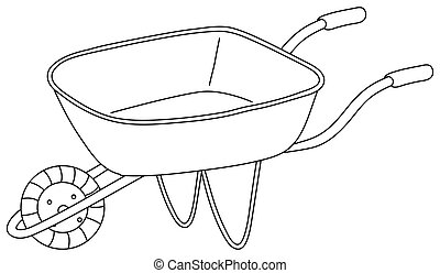 A utility cart - Illustration of a utility cart on a white ...