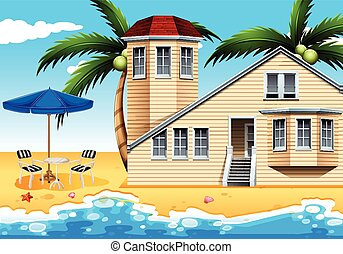 A vacation house at the beach