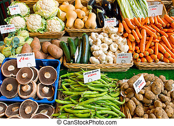 Variety of vegetables for sale