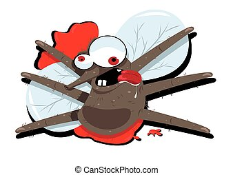 funny splatted mosquito