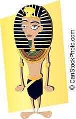 Funny Tutankhamen - a vector cartoon representing a Funny...