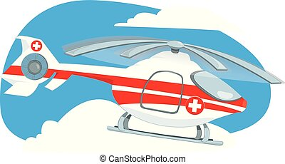 medical helicopter flying in the sky